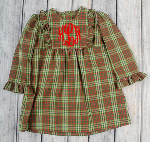 Christmas Plaid Lauren Bib Dress