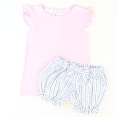Angel Wing Top - Light Pink Knit - Stellybelly