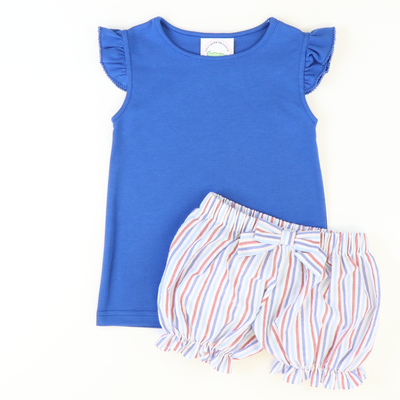 Angel Wing Top - Royal Blue Knit - Stellybelly