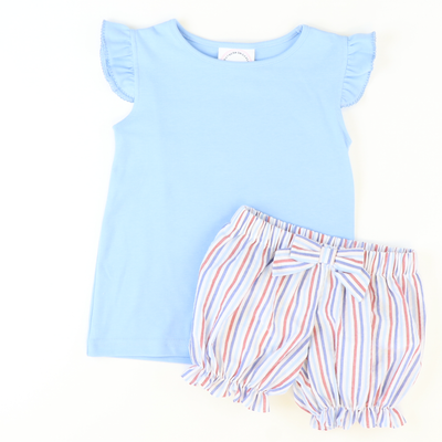 Angel Wing Top - Light Blue Knit - Stellybelly
