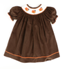 Smocked Turkey Brown Corduroy Bishop