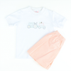 Shadow Stitch Boys Shirt & Short Set