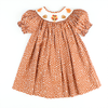 Smocked Autumn Turkey Polka Dot Bishop