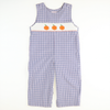 Smocked Pumpkin Blue & Orange Plaid Longall