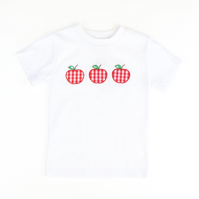 Appliqued Red Gingham Apples Shirt