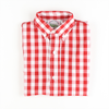 Red Check Long Sleeve Button Down Shirt