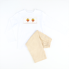Smocked Turkey Tan Corduroy Shirt & Pants Set