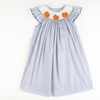 Smocked Pumpkin Blue Dot Bishop