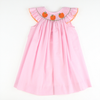 Smocked Pumpkin Pink Micro Gingham Bishop