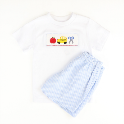 Smocked School Bus Shirt