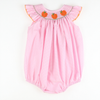 Smocked Pumpkin Pink MIcro Gingham Bubble