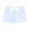 Blue Gingham Seersucker Bow Shorts