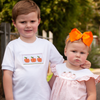 Smocked Pumpkin Seersucker Shirt & Short Set