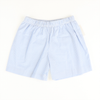 Blue Gingham Seersucker Shorts