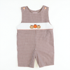 Smocked Pumpkin Brown Check Shortall