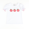 Appliqued Red Gingham Apples Ruffle Shirt