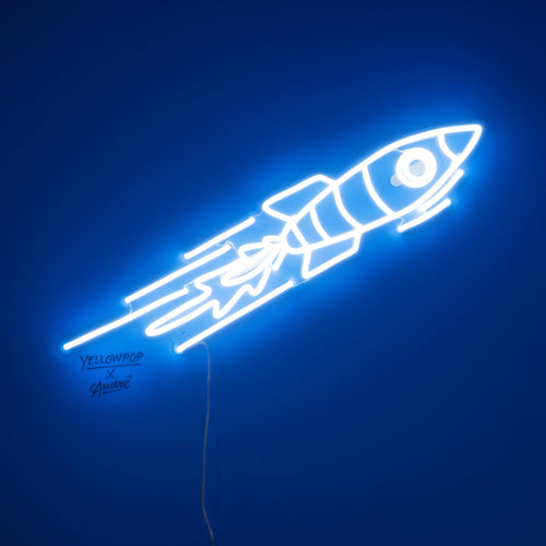 Rocket - LED neon sign by André Saraiva