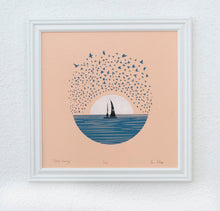Load image into Gallery viewer, Sailing Starling | Silk Screen Print | 12x12