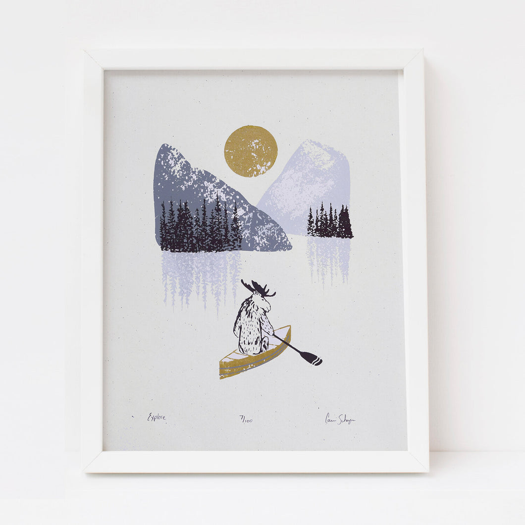 Explore | 11x14 Silk Screen Print