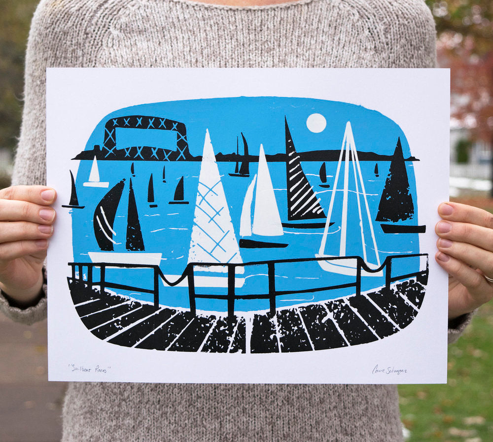 Sailboat Races | Silk Screen Print | 11x14