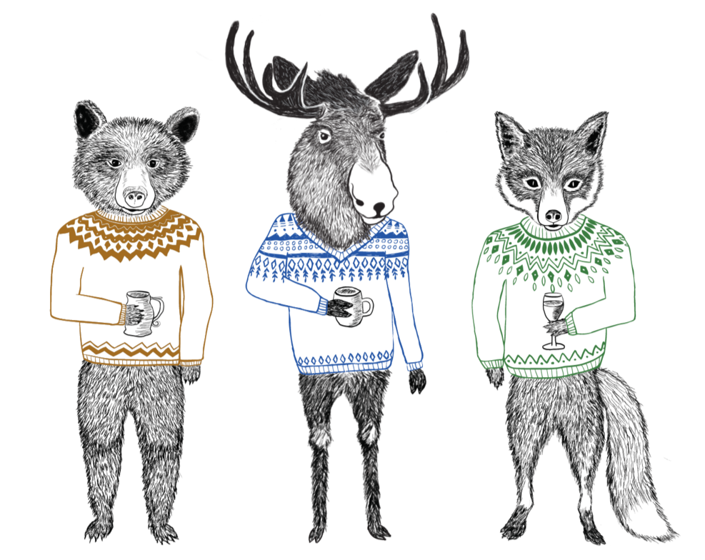 Northern Animals | Digital Art Print