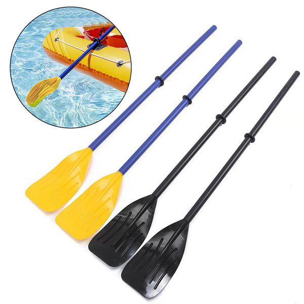 2pcs Collapsible Kayak Paddles Rubber Dinghy Water Sports Inflatable Boat Oars