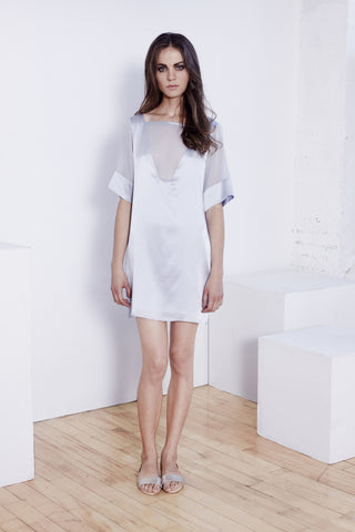 Alexandria - Light Blue Silk Dress