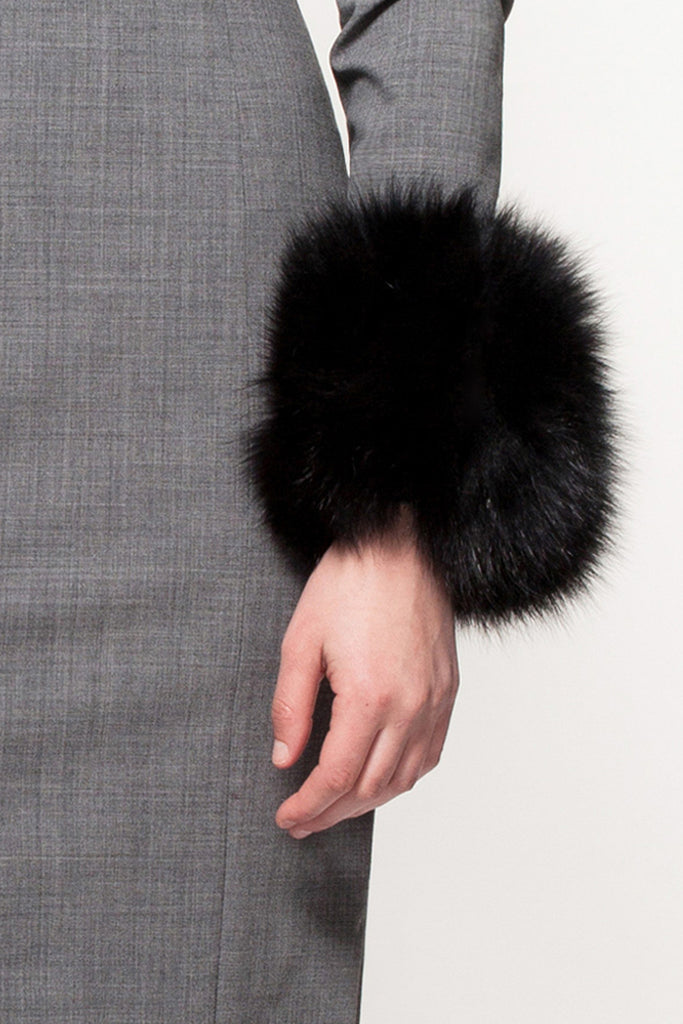 Black Designer Fur Cuffs