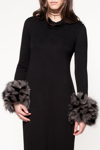 Black & Grey Designer Fur cuffs