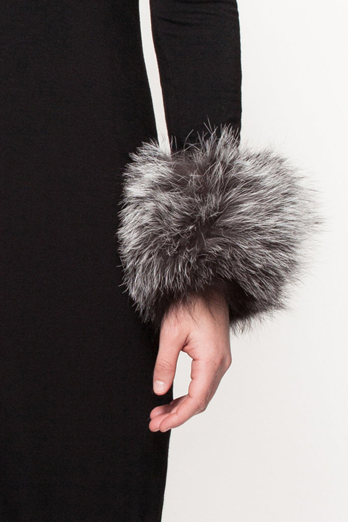 02 - Grey Mix Designer Fur Cuffs
