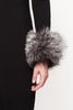 Grey Mix Designer Fur Cuffs