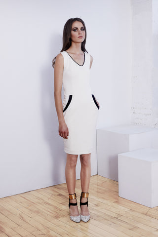 Oxford White - Form Fitting Dress