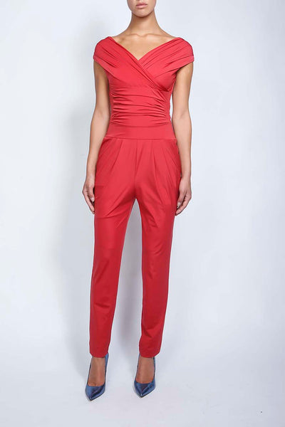 SK jumpsuit cherry red