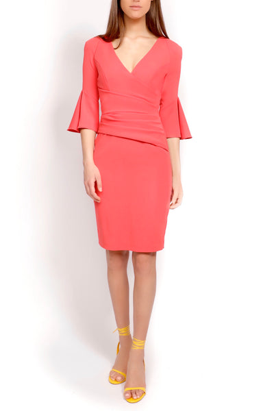coral-trumpet-sleeved-dress