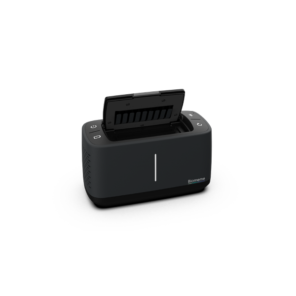 Franklin Thermocycler in black with the lid open