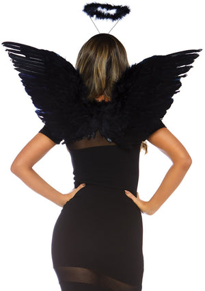 Black Angel Wings Accessories Kit - PartyExperts