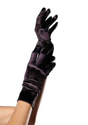 Wrist Length Satin Gloves - PartyExperts