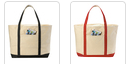 Load image into Gallery viewer, Canvas Zippered Boat Tote