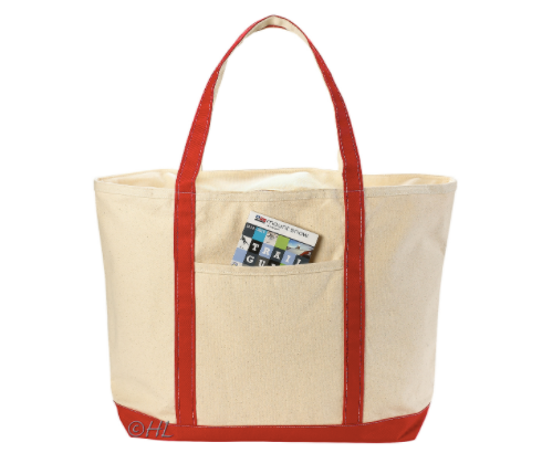 Canvas Zippered Boat Tote
