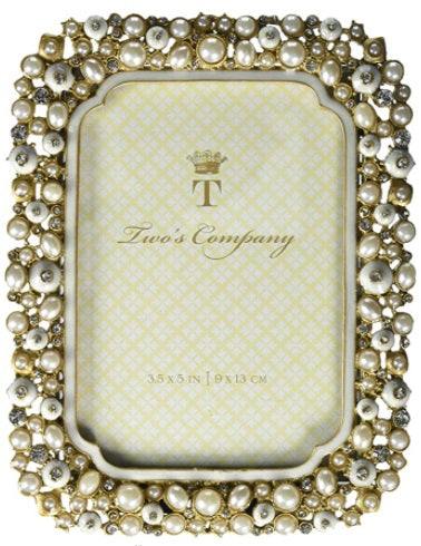 Two's Company Crystal and Pearl Frame