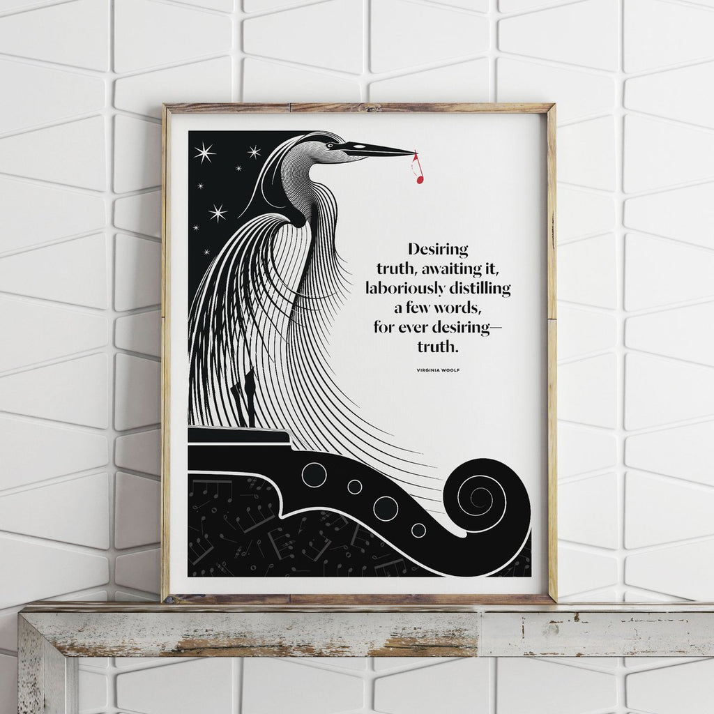 Virginia Woolf, Monday or Tuesday, Obvious State Art Print