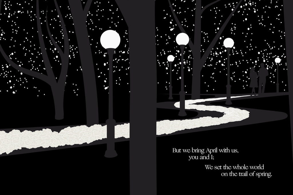 A November Night by Sara Teasdale, Illustrated by Obvious State