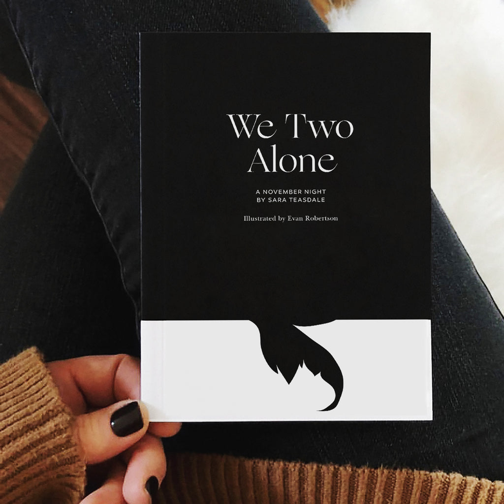 We Two Alone Illustrated by Obvious State, A November Night by Sara Teasdale