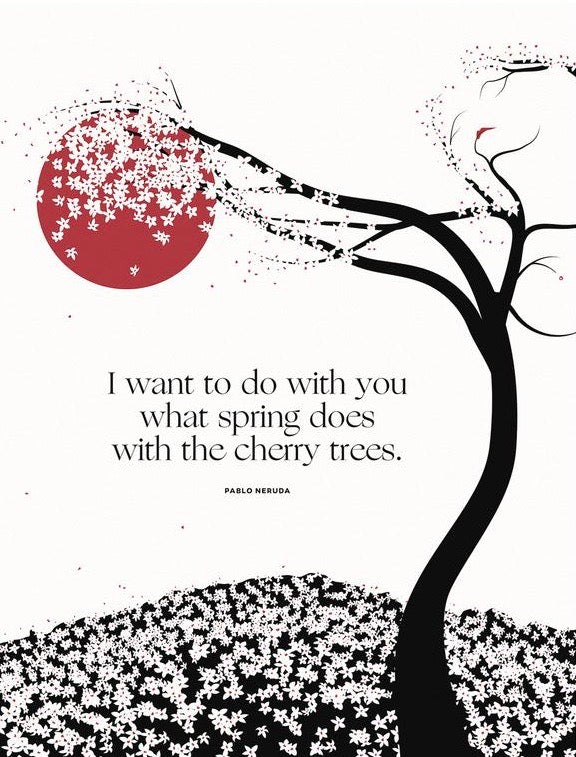 Pablo Neruda, Cherry Trees  Illustration, Obvious State