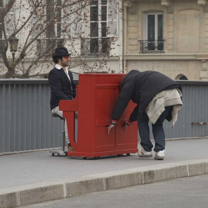 Man with a Piano, Paris, Nichole Robertson