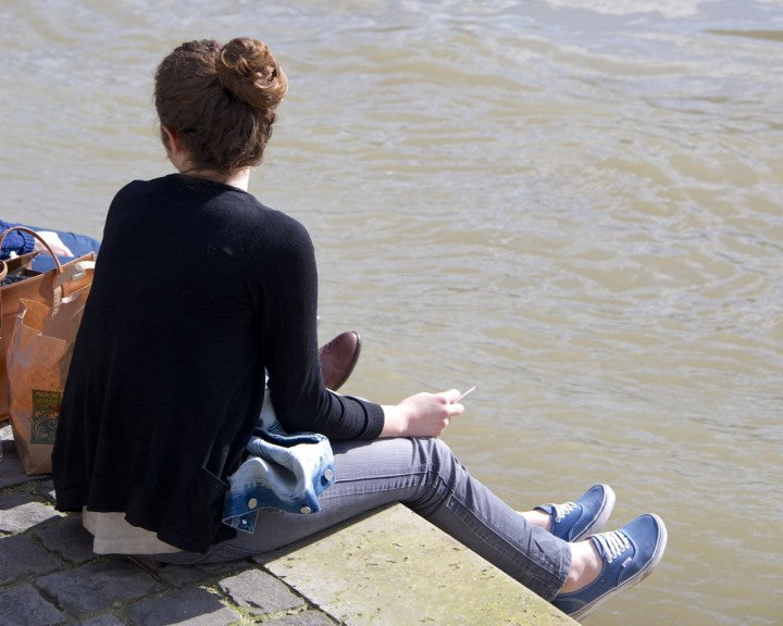 Lounging by the Seine, Paris, Photograph by Nichole Robertson