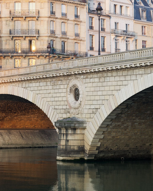 Paris Bridge, Sunset, Paris Photography by Nichole Robertson