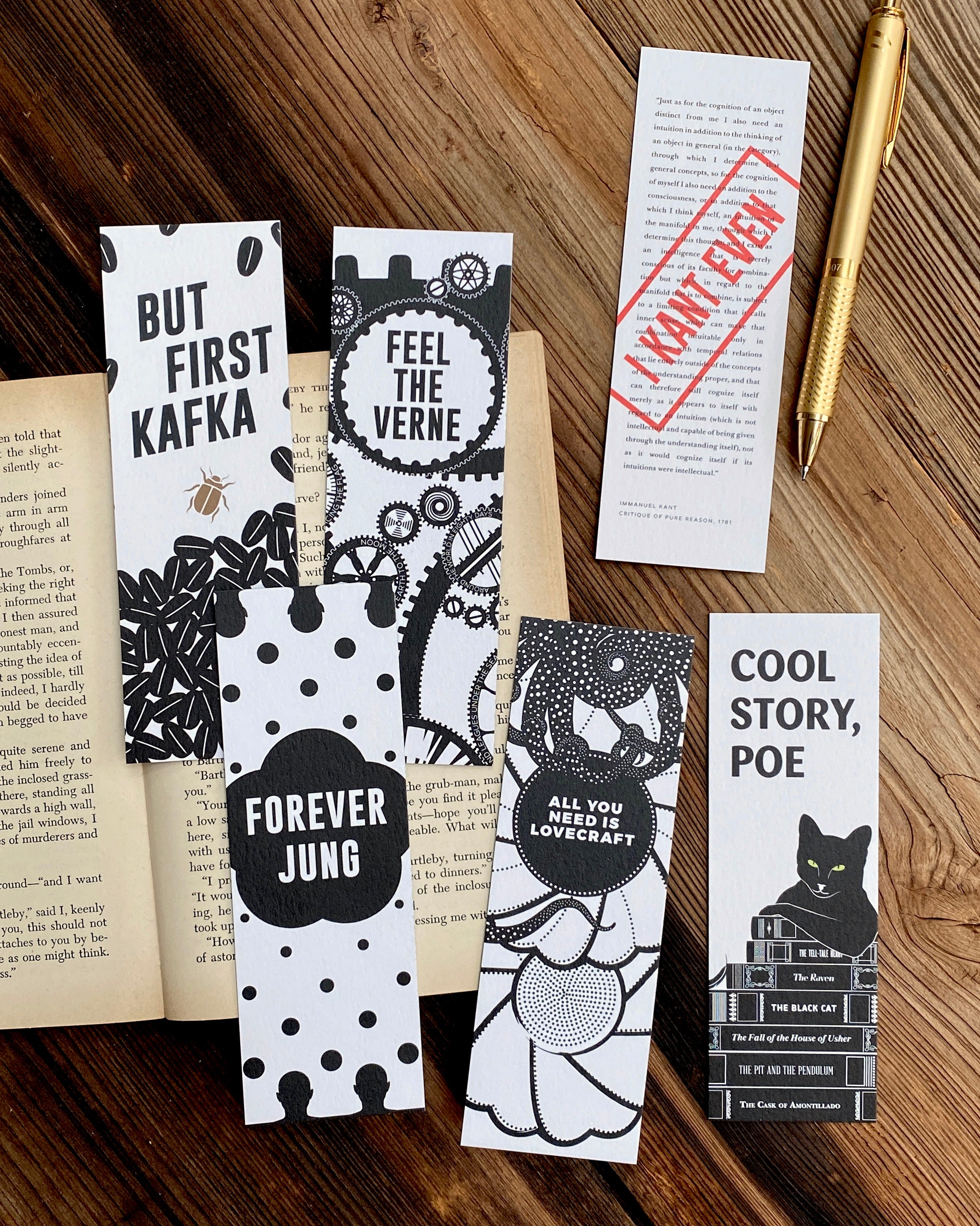 Puns Bookmark Set