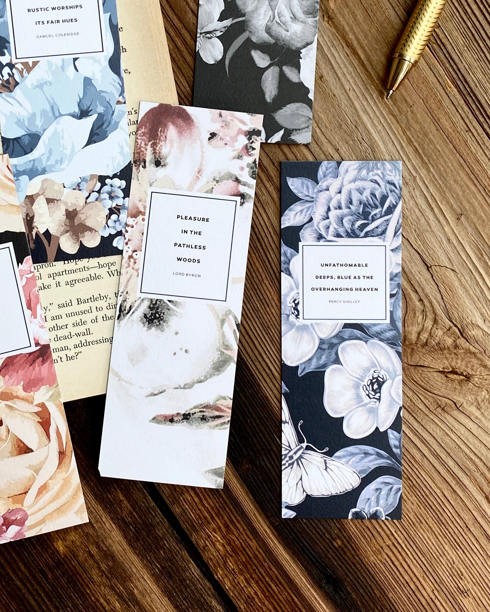 Romantic Poets Bookmark Set