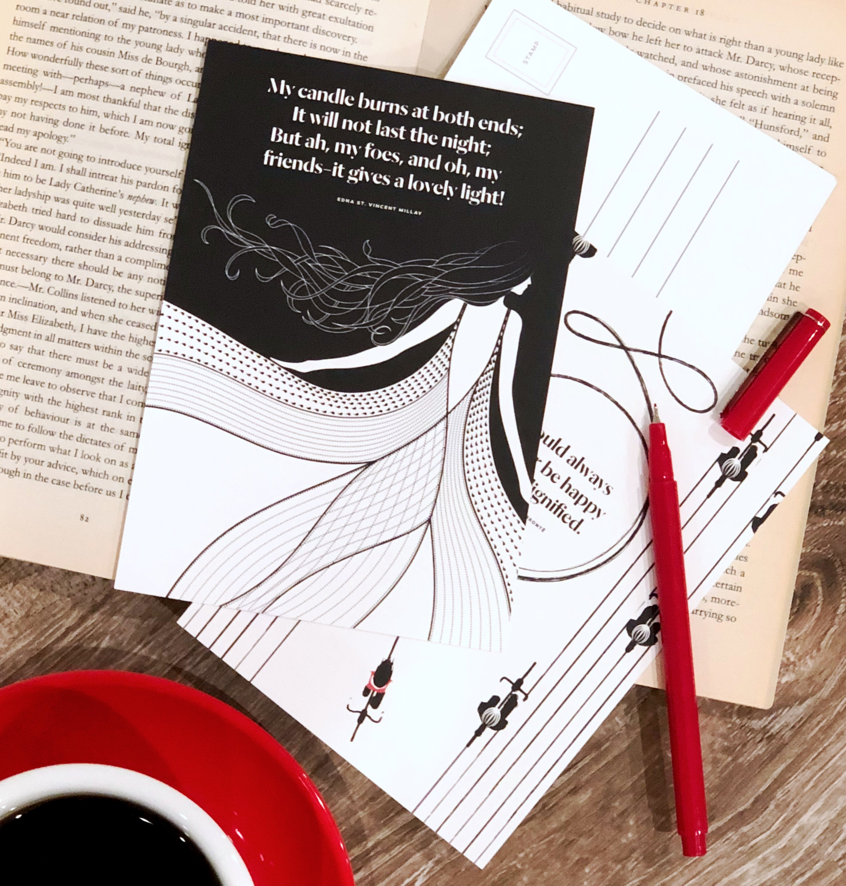 Women Writers Postcard Set -